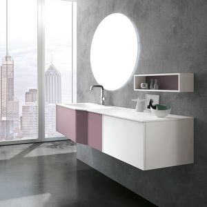 STR8 comp. 09, Bathroom cabinet, with top in mineralmarble, with mirror