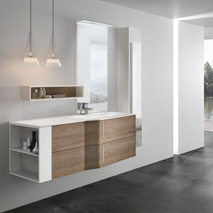 STR8 comp. 14, Bathroom cabinet with mirror equipped with lamp