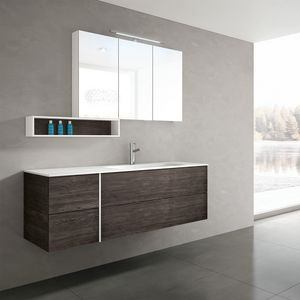 STR8 comp. 20, Bathroom cabinet contemporary, with top in Mineralmarble