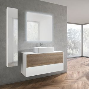 STR8 comp. 22, Bathroom furniture in a minimalist style, with vertical handle