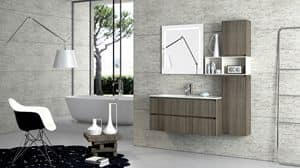 Torana TR 004, Furniture with sink, with tranch� finishing, various sizes