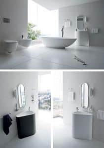 Picture of BOMA washbasin free standing h85, design washbasin