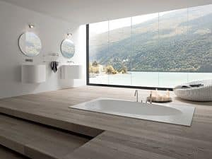 Picture of BOMA washbasin hanging h48, design washbasin
