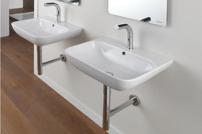 One tap hole basin different types of installations for Different types of sinks