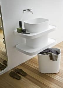 Picture of FONTE washbasin totem h50, suitable for spa