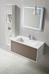 Picture of GIANO washbasin hanging h44 w96, suitable for laundry
