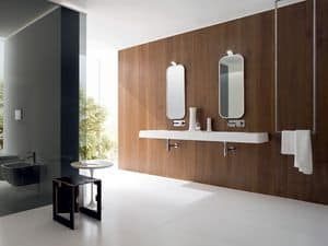 Picture of OPUS integrated top double basin, washbasin