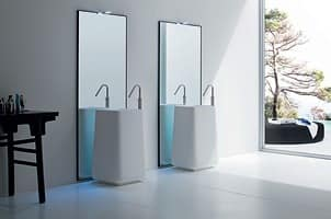 Picture of OPUS washbasin free standing h85, suitable for hotel