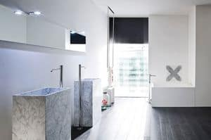 Picture of UNICO freestanding washbasin Carrara marble, suitable for restaurant