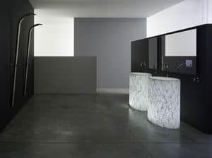 Vision, Free-standing sink, in Alicrite, with internal light