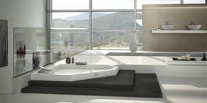 Picture of Aura Corner 140 Corian, bathtub