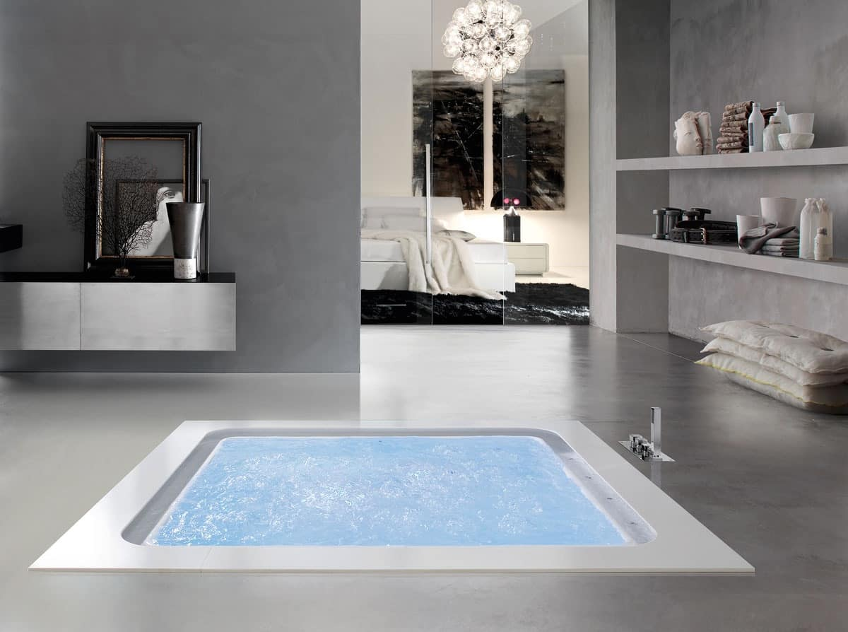 Bolla Q Sfioro, Bath infinity, with level sensors, for spa