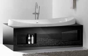 CHARME BATHTUB, Bathtub in ceramic