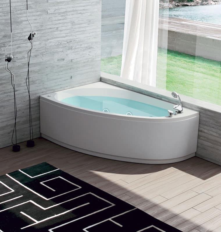 Bathtub with air regulation 6 whirlpool jets idfdesign - Dimensioni vasche da bagno angolari ...