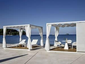 Kiosks, gazebos, beach cabins