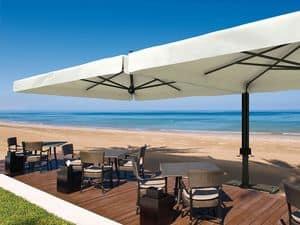 Alu double, Modular structure made of various sun umbrellas