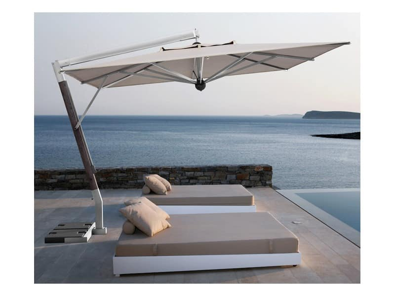 parasol with lateral arm for terrace idfdesign. Black Bedroom Furniture Sets. Home Design Ideas