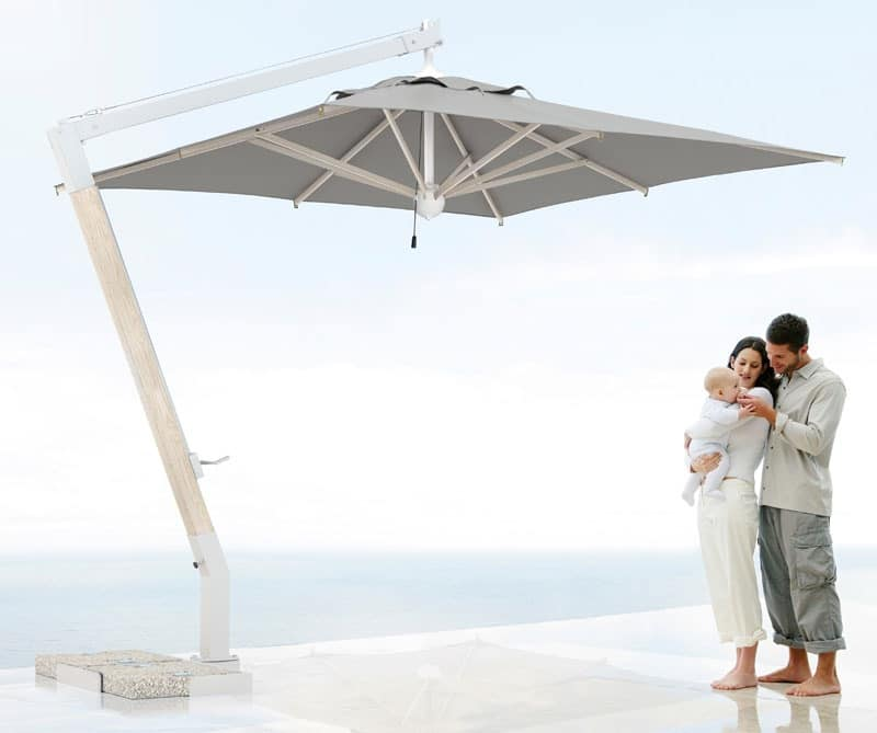 Easy-sealing parasol Milano arm