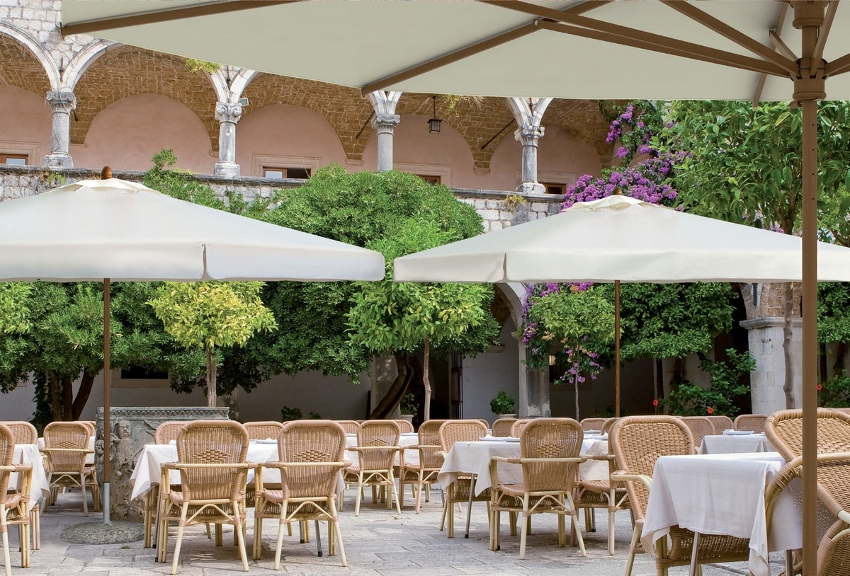 Large parasols Palladio telescopic