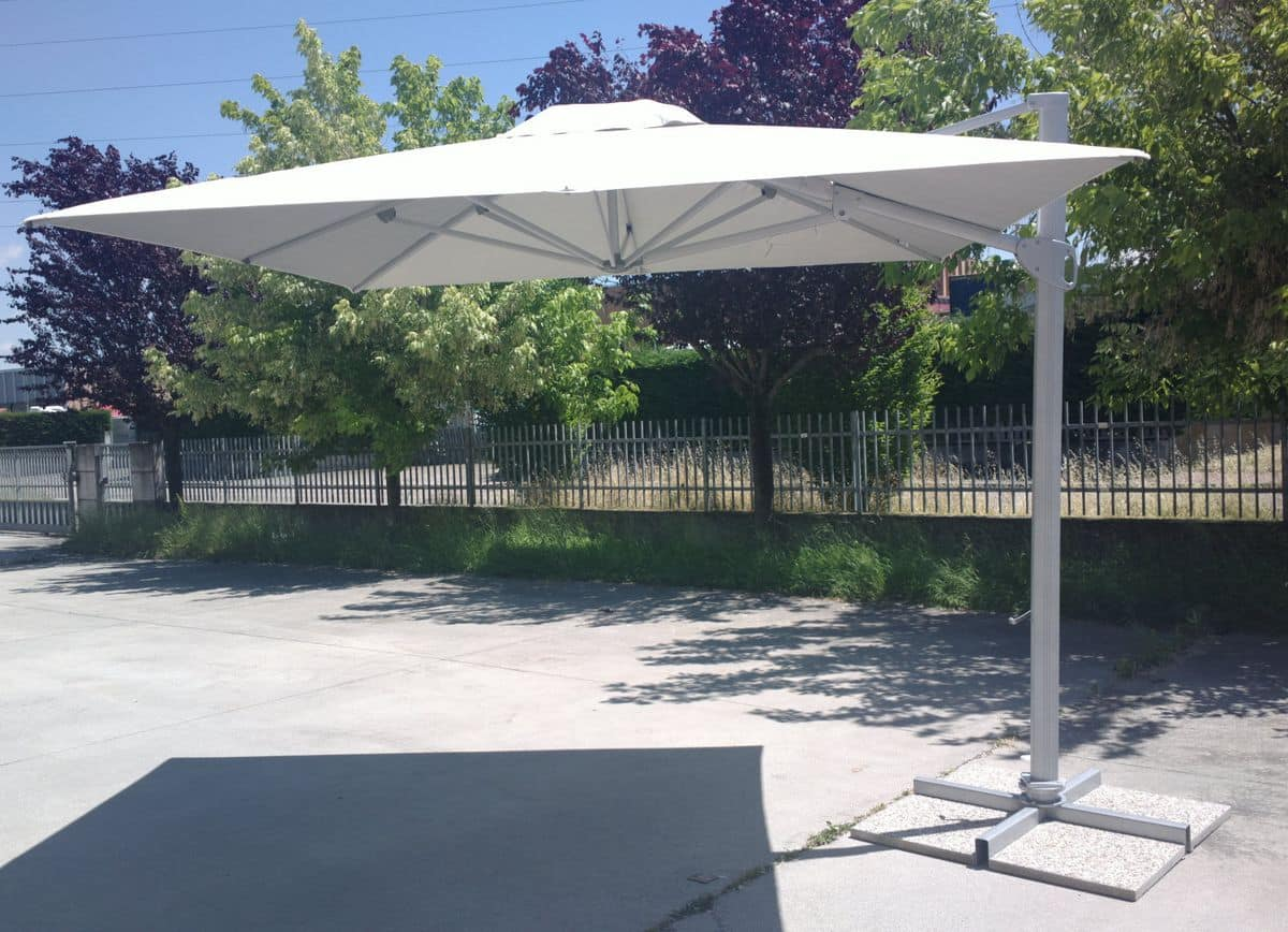 Modern parasol with decentralized arm for outdoors idfdesign for Architecture upbrella