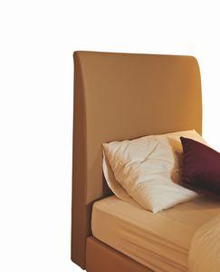 Scarlett single bed headboard, upholstered, Padded headboard for hotel single bed