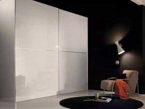 Anfiteatro, Wardrobe with sliding doors, modern design, for bedrooms