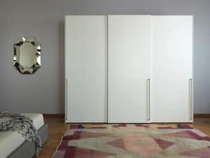 Anteprima, Wardrobe with wing doors, painted white, to modern bedrooms