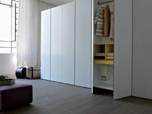 Bianco, Linear wardrobe, available in various sizes