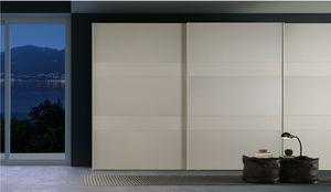 CINQUE, Wardrobe with painted glass doors