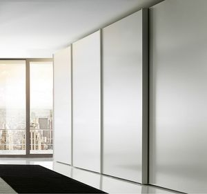 DELLO, Lacquered wardrobe with sliding doors