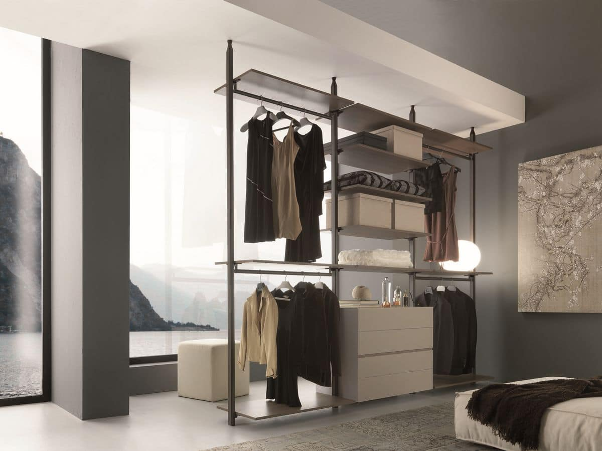 Cabinet Without Doors For Bedroom, Wall Mounting
