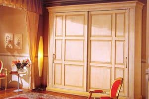 Epoca, Wardrobe with sliding doors, lacquered and varnished