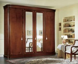 Gardenia armadio con specchio, Armoire with beveled mirrors and internal drawers