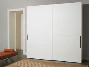 Palea, Wardrobe hinged doors, matt or polished, for bedrooms modern