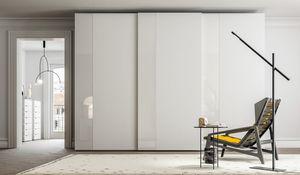 PARIGINO, Wardrobe with sliding doors made of oak