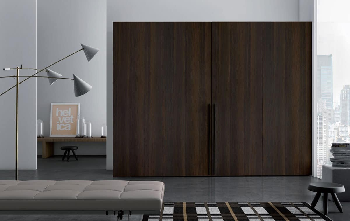 Wooden wardrobes Plana door