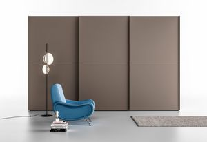 SERE' DUE, Gray lacquered cabinet, sliding doors