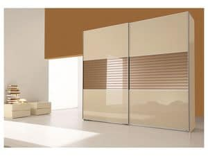 Picture of Sliding Aluminium Framed door Comp. 26, cabinet
