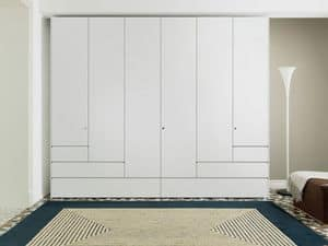 Step, Cabinet with hinged doors, drawers with handle