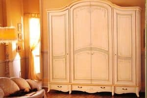 Tosca, Wardrobe with 4 doors with 4 drawers for hotels