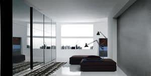 TRIS SPECCHIO, Wardrobe with mirrored sliding doors