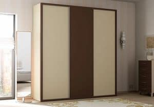 Wardrobe Frame AF 23, Wardrobe with sliding doors, in various finishes