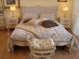 Abbon, Classic bed for hotel rooms, Louis XV style