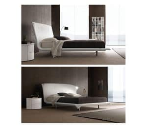 Picture of Abbraccio, beds in leather