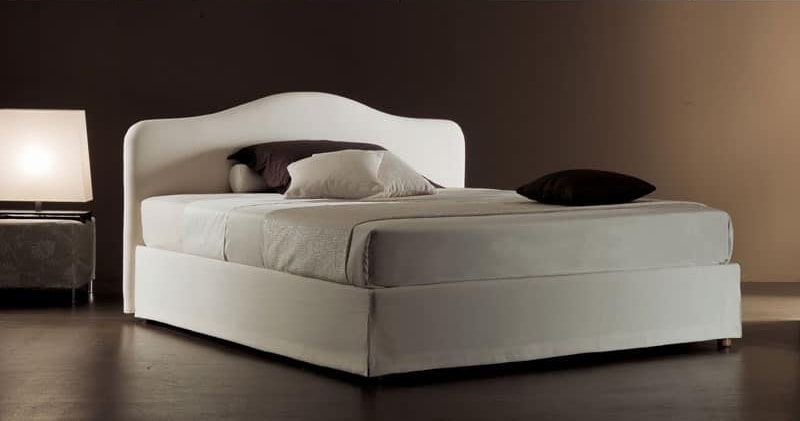 Ariel, Modern bed with upholstered quilted polyurethane headboard