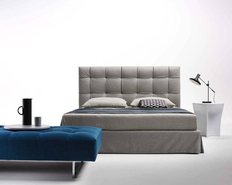 Stuffed bed bedroom furnishing capitonn headboard bed for Furniture zone beds
