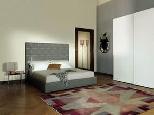 Camargue, Stuffed bed, bedroom furnishing, capitonn� headboard Bed zone