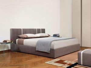 Cannett�, Bed with subnet container, padded sommier