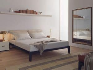 Caresse Fly bed, Double bed with plywood frame, to hotel room