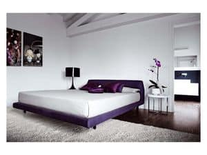 Picture of Chocolate Bed Gliss Collection, bed with upholstered bedframe